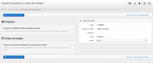 Generación automática de proyectos y órdenes de trabajo