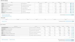 Líneas de facturación en la gestión de órdenes de trabajo