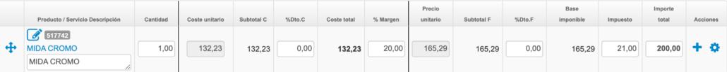 Cálculo de costes usando una aplicación de gestión en la nube